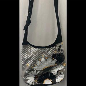 Uncle Jerry's T's Canvas Floral Geometric Tote Bag
